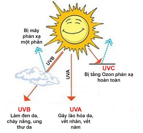 Các tia UV có trong ánh sáng mặt trời