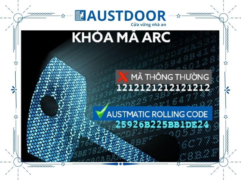 Công nghệ mã khoá ARC thông minh cửa cuốn Austdoor