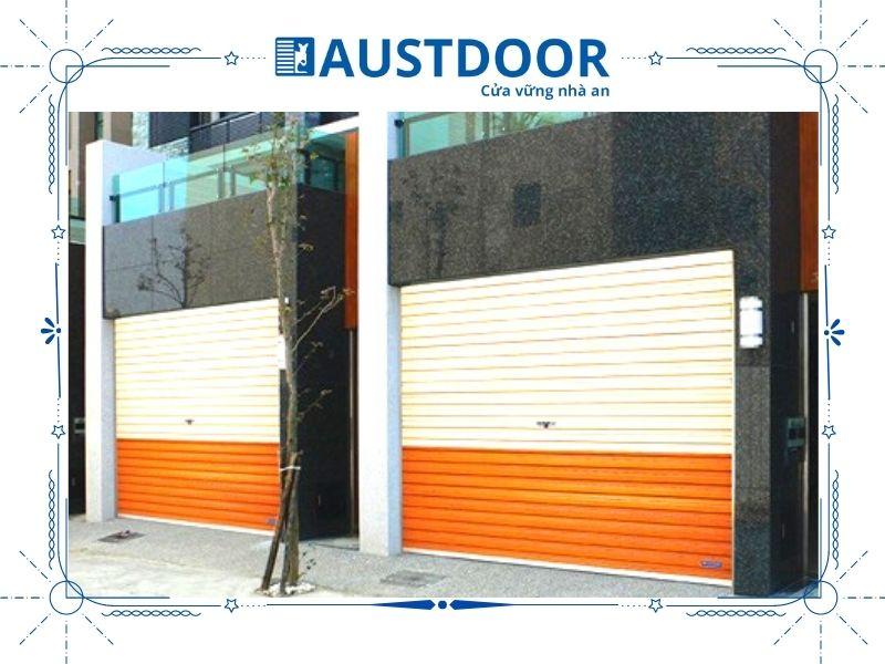 Cửa cuốn mặt tiền nhà phố bằng Thép Tấm Liền AP