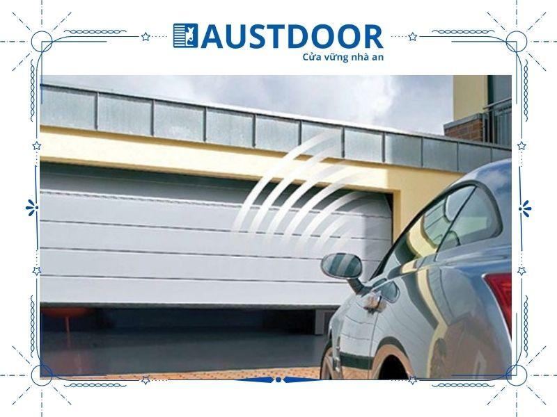 Cửa cuốn trượt trần Overhead phù hợp cho kiến trúc trần thấp như garage